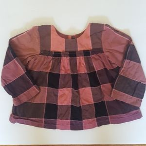 Authentic Burberry Exploded Check Tunic Blouse